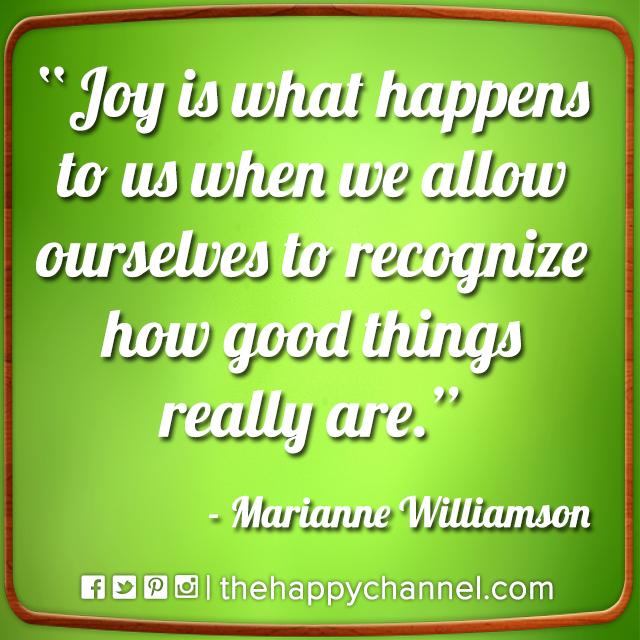 Joy & Good Things…