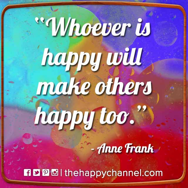 Whoever is Happy…