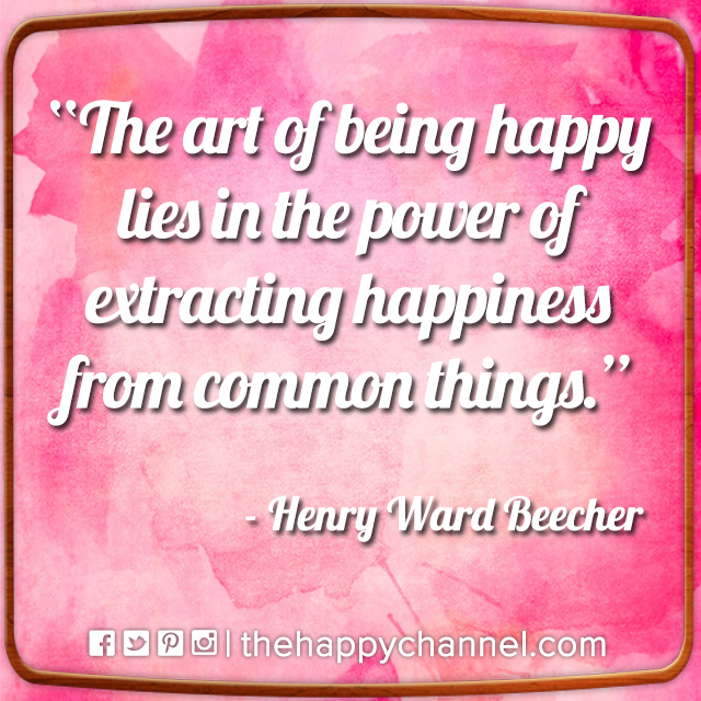 The Art of Being Happy…