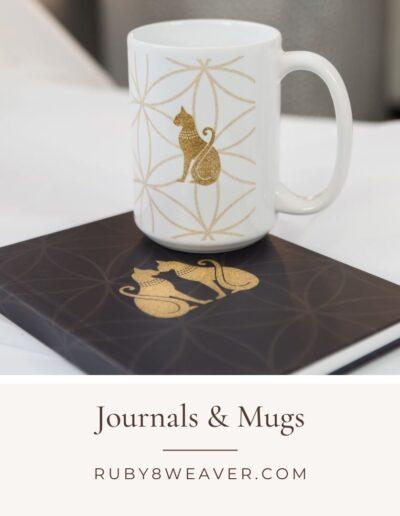 Ruby8Weaver.com Journals and Mugs