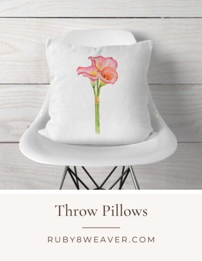 Ruby8Weaver.com Throw Pillows